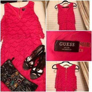 Guess pink cocktail dress